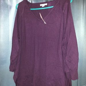New York & Company Purple sweater